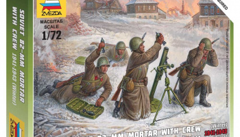 Wargames (WWII) figurky 6208 - Soviet 82mm Mortar with Crew (Winter Unif.) (1:72)
