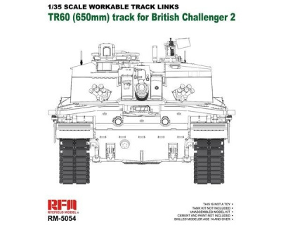 Workable Track Links for Challenger 2 TR60 1/35 – Rye Field Model