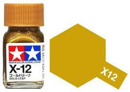 X-12 Gold Leaf Enamel Paint X12 - Tamiya   Car-model-kit com