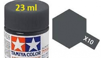 X-10 Gun Metal 23ml X10 - Tamiya