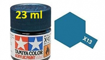 X-13 Metallic Blue Acrylic Paint 23ml X13 - Tamiya
