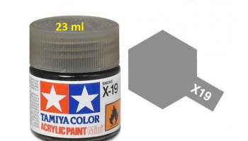 X-19 Smoke Acrylic Paint 23ml X19 - Tamiya