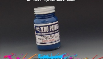 Tyrrell Blue Paint 60ml - Zero Paints