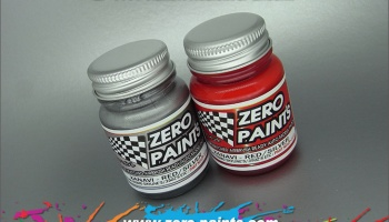 Xanavi/Motul Nismo (R34 & 350Z) Red/Silver Paint Set 2x30ml - Zero Paints