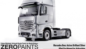 Mercedes-Benz Actros Brilliant Silver Paint 60ml - Zero Paints