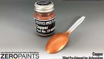 Copper Paint - 30ml - Zero Metal Finishes - Zero Paints
